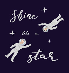 Shine like a star vector