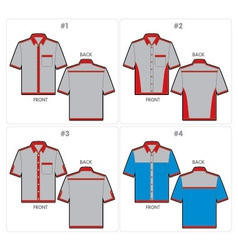 Shirts template vector