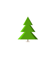 silhouette design green spruce on white background vector image