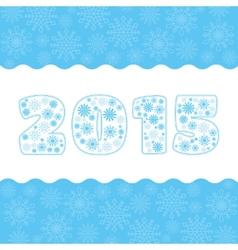 Snowflake numbers set vector image
