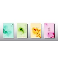 Splash colorful watercolor design on multicolored vector