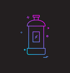 spray icon design vector image