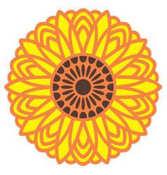 Sunflower mandala vector