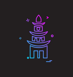 temple icon design vector image