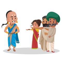 Tenali ramakrishna cartoon character vector