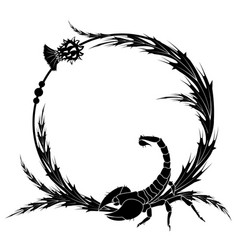 thistle and scorpion vector image