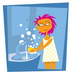 thorough hand washing life in quarantine vector image