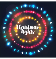 Three circle Christmas light borders vector