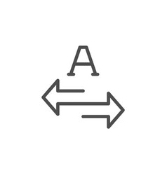 Translation line icon vector