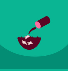 trash floating in the water line icon for web vector image
