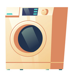 washing machine front view isolated on white icon vector image
