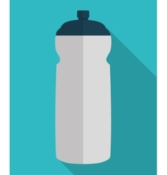 Water bottle of fitness concept vector
