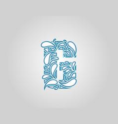 Water splash initial g letter logo icon vector