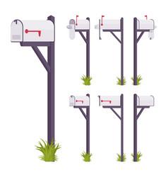 white mailbox set vector image