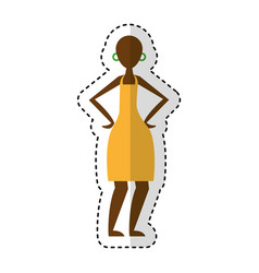 woman figure african icon vector image