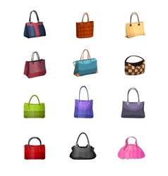 Women s fashion collection of bags vector image