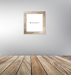 Wood frame floor vector