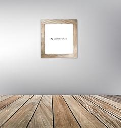 Wood frame floor vector image