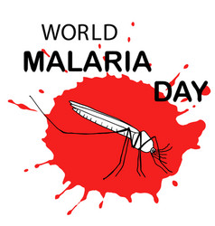 world malaria day card vector image