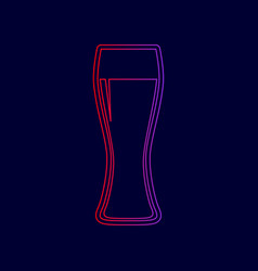 beer glass sign line icon with gradient vector image vector image