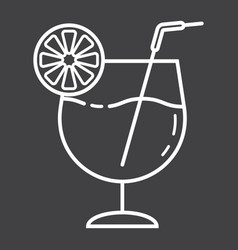 cocktail line icon food and drink alcohol sign vector image