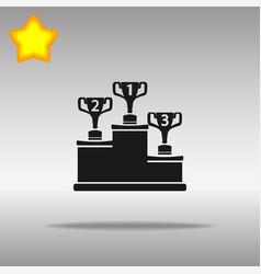 Winner black icon button logo symbol concept vector