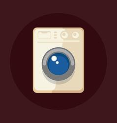 Modern washing machine vector image vector image