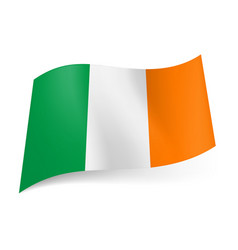 national flag of ireland green white and orange vector image