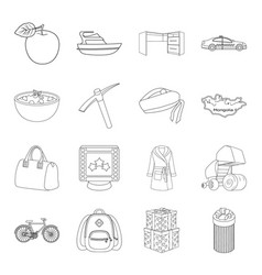 service education finance and other web icon in vector image