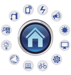 smart house concept vector image vector image