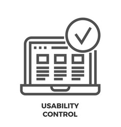 usability control line icon vector image