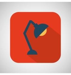 cartoon lapm bulb desk red background vector image