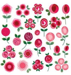 mod rose clipart vector image