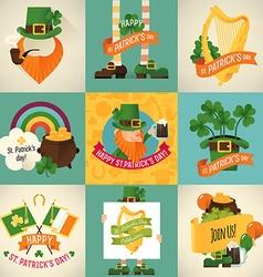 St Patricks Icon Set vector image vector image