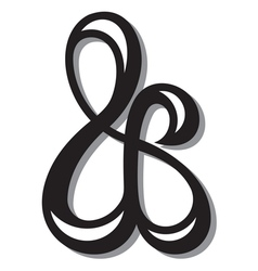 Ampersand symbol vector