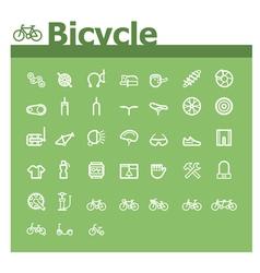 Bicycle icon set vector