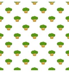 Big tree pattern cartoon style vector image