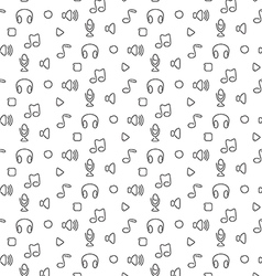 Music audio sound seamless pattern vector image vector image