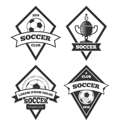 Soccer logo templates collection isolated white vector image vector image