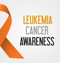 World leukemia cancer day awareness poster eps10 vector