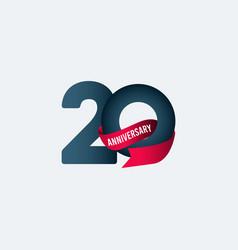 20 years anniversary celebration ribbon gradient vector