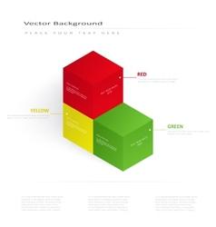 3d color cubes vector image