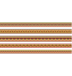abstract ethnic stripes ornamental borders set vector image