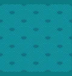 Abstract wave pattern aquamarine ripple vector