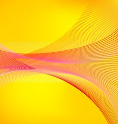 Abstract yellow background with red lines vector image