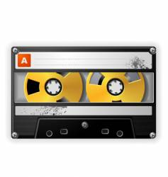audio tape cassette vector image