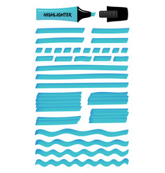 azure solid and wavy realistic highlight lines vector image