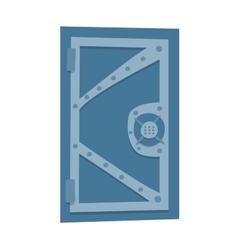 Bank safe door isolated vector