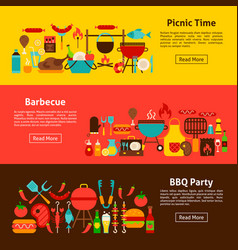 barbecue party web banners vector image