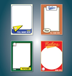 Baseball cards vector